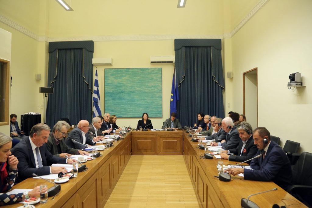 Συνάντηση αντιπροσωπείας της Επιτροπής Εθνικής Άμυνας και Εξωτερικών Υποθέσεων με αντιπροσωπεία του Παλαιστινιακού Εθνικού Συμβουλίου