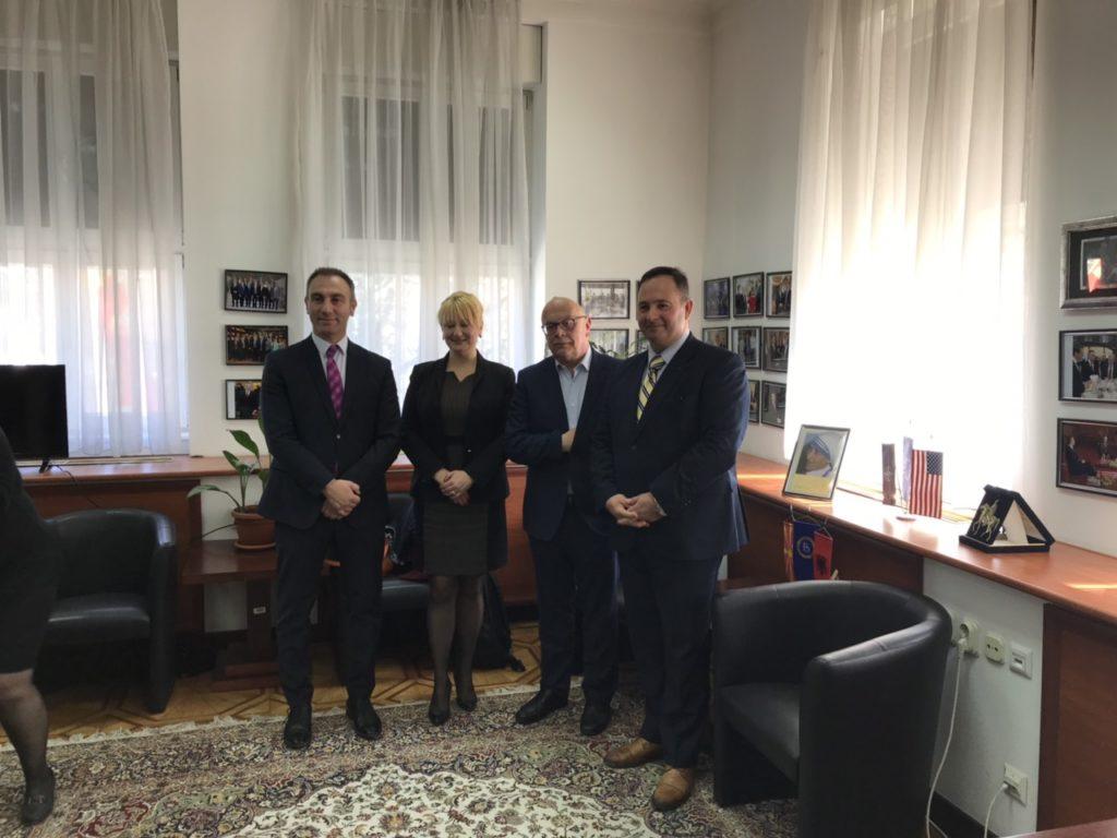 Επίσκεψη του Προέδρου της Επιτροπής Εθνικής Άμυνας και Εξωτερικών Υποθέσεων της Βουλής των Ελλήνων στα Σκόπια