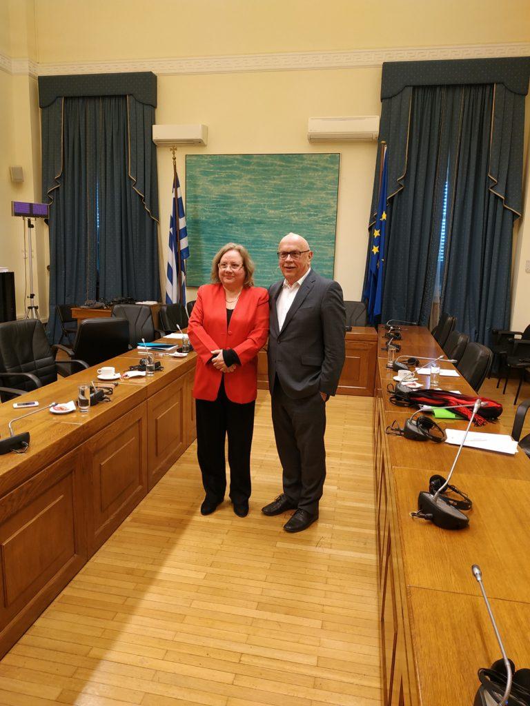 Συνάντηση του Προέδρου της Επιτροπής Εθνικής Άμυνας και Εξωτερικών Υποθέσεων της Βουλής με την Πρέσβη της Κούβας